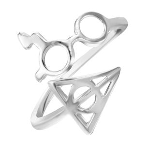 Jewelry - Silver Magic Glasses Deathly Hallows Wrap Ring
